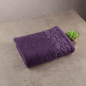 Махровое полотенце GM Textile 40х70см Grek 450г/м2 (Фиолетовый)