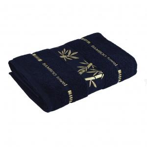 Набор махровых полотенец 3шт GM Textile 50х90см, 50х90см, 70х140см Bamboo 450г/м2 (Темно-синий)