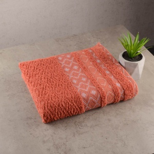 Набор махровых полотенец 3шт GM Textile 50х90см, 50х90см, 70х140см Grek 450г/м2 (Терракотовый)