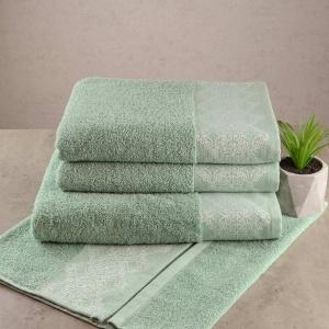 Набор махровых полотенец 3шт GM Textile 50х90см, 50х90см, 70х140см Grek 450г/м2 (Мятный)