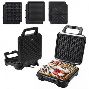 Мультимейкер Camry CR 3047 3 в 1 XXL с 3 сменными пластинами + защита от перегрева