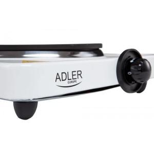 Плита электрическая Adler AD 6503 с 1 конфоркой 185 мм + плавный контроль температуры 1500 Вт Белый