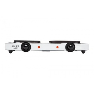 Плита электрическая Adler AD 6504 на 2 конфорки 180 мм и 155 мм + плавный контроль температуры 2250 Вт Белый