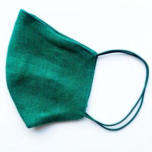 Маска защитная (многоразовая) из 100% ЛЬНА Размер M Зеленый