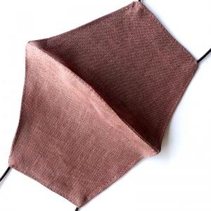 Маска защитная (многоразовая) из 100% ЛЬНА Размер L Какао
