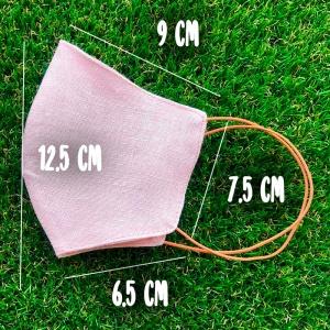 Маска защитная многоразовая из 100% ЛЬНА Размер M (Розовый)