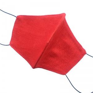 Маска защитная (многоразовая) из 100% ЛЬНА Размер M Красный