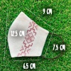 Маска защитная (многоразовая) из 100% ЛЬНА с Вышивкой Размер М Хакки