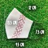 Маска защитная (многоразовая) из 100% ЛЬНА с Вышивкой Размер L Бежевый