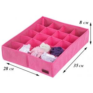 Набор органайзеров для нижнего белья 3 шт Pink003 (Розовый)
