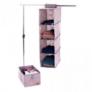 Подвесная полка-органайзер для вещей с ящиком L KHP-L-grey (Серый)