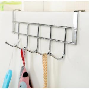 Вешалка надверная кухонная на 5 крючков hld-953-chrome (Хром)
