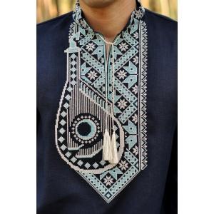 Дизайнерская вышиванка с оригинальным орнаментом «Бандура»