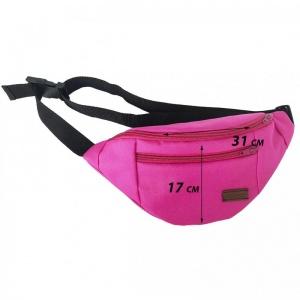 Поясная сумка на 2 отделения X002-pink (Розовый)