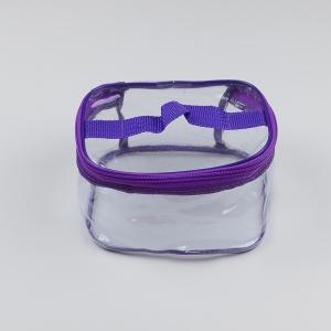 Косметичка прозрачная М - 17x13x10 см (Фиолетовый)