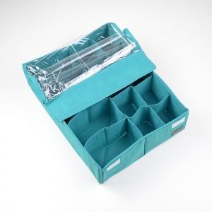 Двойной органайзер для белья с крышкой LzrK001-Kr (Лазурь)